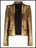 Oasis Rich Gold Sequin Jacket.