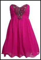 Vestry Pink Strapless Prom Dress.