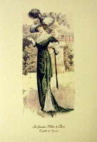 Fashion Plate Reprints Titanic Era - Dark Green Dress