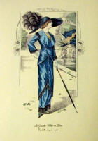 Fashion Plate Reprints Titanic Era - Blue Dress