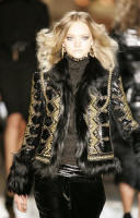 Roberto Cavalli�s fox trim Russian jacket at around $11,700.