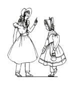 1835 Colouring in Picture of Children's Costume