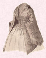 Picture of early Victorian mantelet 1852