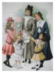 Bloused dresses for children in 1902