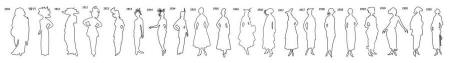 Outline Fashion Silhouettes 1910-1920 Timeline