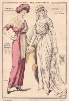 Dresses - 1913 wedding dress fashion plate