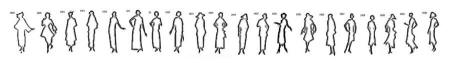Timeline Image of Free Outline White Silhouettes 1920 to 1930.