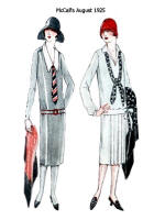 Day Dresses in McCall's Pattern Images - August 1925