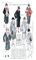 These wrap coats typify coat styles of the 1920s.