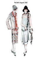 Scarf features in McCall's Pattern Images - August 1925