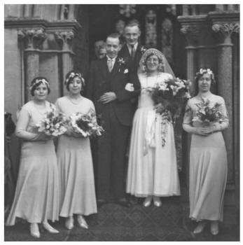 1931 Cardiff White Wedding