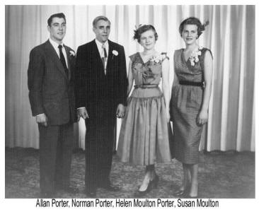 1953 Wedding of Helen and Norman Porter plus guests.