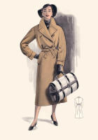 1955 Camel Wrap Coat and Holdall