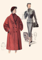 1955 Red Double Breasted Coat and Slim Suit