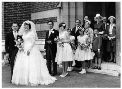 1961 wedding - in the picture above Vera and her husband Peter leave the church.
