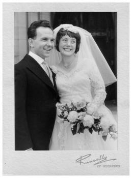 The newly weds Peter with Vera 1961
