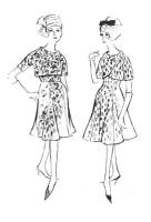 1962 Princess cut skirts on dresses and Empire line cover up bolero jacket.