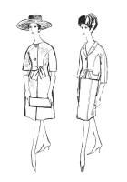 1962 Coat with Kimono elbow length sleeves and suit variation.