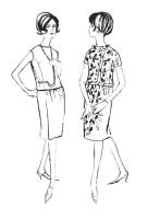 Overblouse style dresses 1962