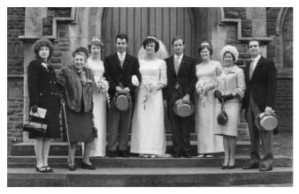 1965 Bridal group photo