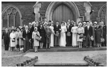 Mid 1960s Wedding Photo - 1965 Large Wedding Group