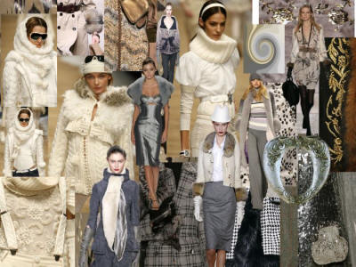 Picture of Grey & Monochrome Mood Board Fashion Colours Fall 2006