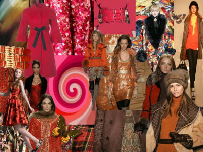 Picture of Red Rusts Mood Board Fashion Colours Fall 2006