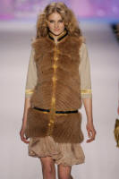 Zac Posen feathered fox vest.