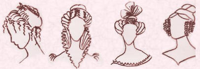 Pictures of Regency and Romantic  hairstyles