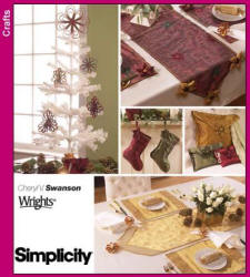 Simplicity Pattern 4313 Xmas Decor in the Home