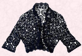 This useful and fashionable navy blue crochet cardigan bolero is from John Lewis UK and costs just �40