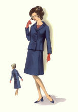 C20th Fashion History Image - Suit c1964 - 1967