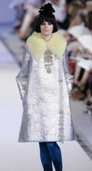 Silver Couture Fur Fashion Fall 2006 - Lacroix