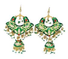 Indian Lac Costume Jewellery Earrings