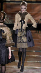 Valentino Gold Jacket and Embellished Skirt