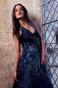 Wallis turquoise velvet halter dress �110