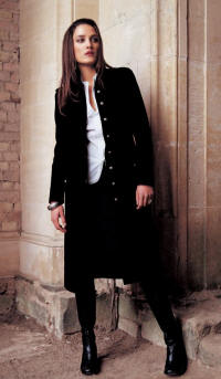 Velvet black military frock coat - 2006 Fashion History.