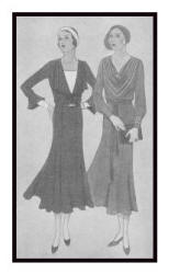 April 1930 - Good Housekeeping Fashion Images 3 - Soft Dresses