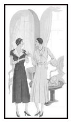 April 1930 - Good Housekeeping Fashion Images 3 - Sleeves are shorter.
