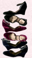 Velvet wedges from Boden