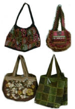 Picture showing textured carft  boho bags from the Per Una Range at Marks and Spencers.