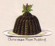 Picture of a Chrsitmas Plum pudding from Mrs Beetons 1890s edition