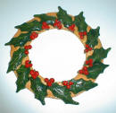 Completed Varnished Bread Dough Holly Wreath