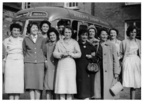 Circa 1959 to 1961 - Group of women on a day trip to Hereford.