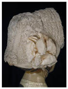 Irish Crochet Bonnet - click for detail