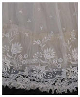 Edwardian Mixed Lace Gown Hemline Detail