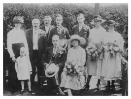 1924 Wedding Group Photograph of Tom and Lill
