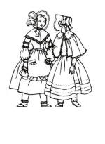 Girls in bonnets 1845