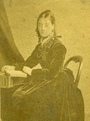 An old Mid Victorian photograph of Charlotte Emma Pitman.