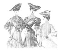 The Edwardian Blouse dripping with lace - Chic Parisien images of 1906